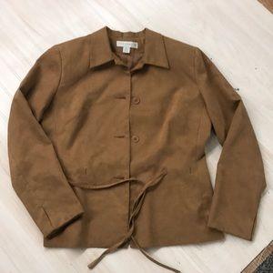 Petite Sophisticate light brown blazer size 6